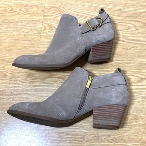 Franco Sarto Garfield Suede Buckle Booties